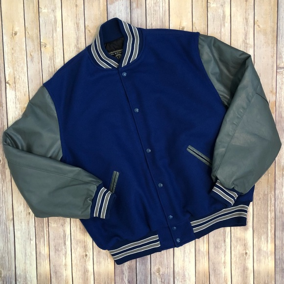 HOLLOWAY Sportswear Varsity Jacket Wool Leather XL
